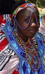Maasai Girl Adorned (glorious journey photography) Tags: africa girl tanzania ngorongorocrater maasai indigenous jewery gloriousjourneyphotographyorg gloriagarrett