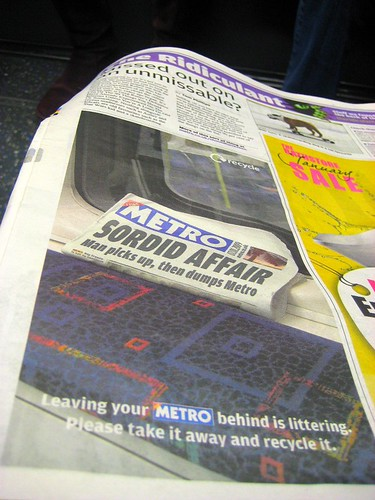 Metro Sordid Affair - Recycling Ad