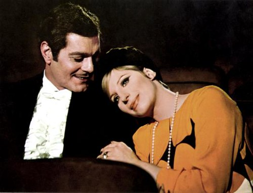 Classic actors Omar Sharif and Barbra Streisand in the film Funny Girl