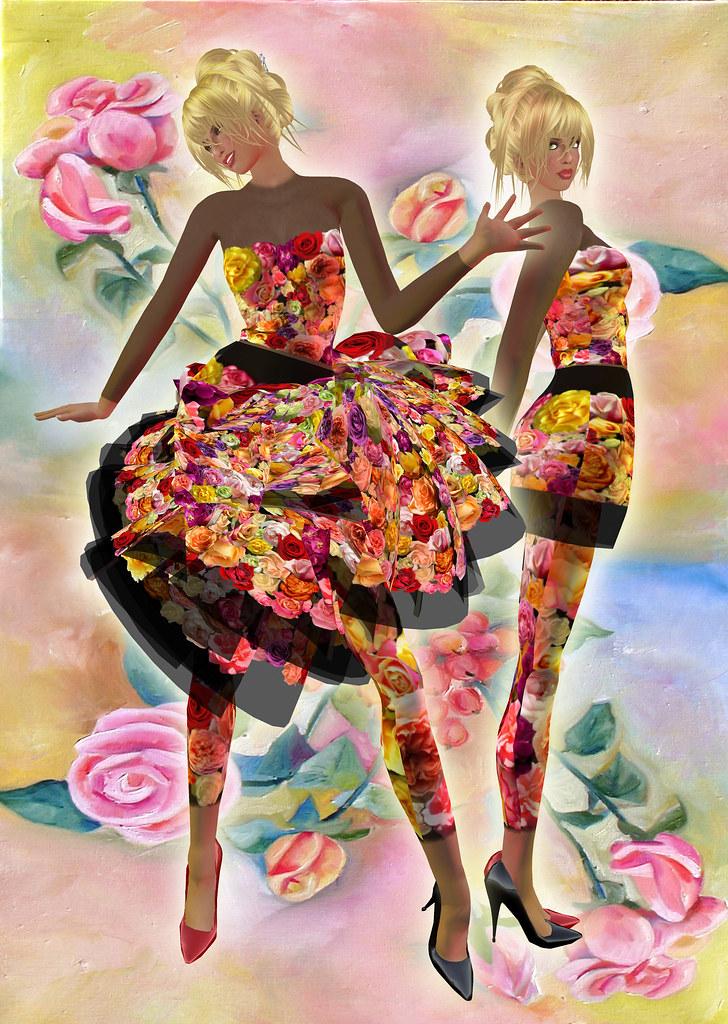 n.17 - roses dress
