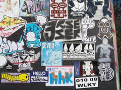stickercombo (wojofoto) Tags: streetart amsterdam stickerart propaganda stickers theory hr campaign hitrun stickercombo deq buyit earworm wojo putup 455er