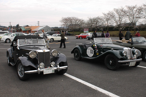 MG TD & MG TF in Tsukuba Japan [Apr. 04. 2009]