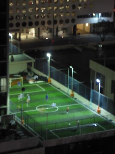 Rooftop soccer field!