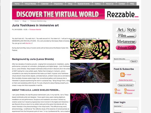 Rezzable.com blog post on my work