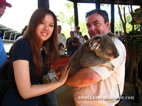me touching a koala