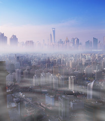 shanghai (JERRYANG) Tags: china plaza square skyscrapers shanghai hilton olympus 66  pudong  43 wheelock  plaza66 lujiazui swfc       e520  huidefeng    nangjinxilu  jerryang