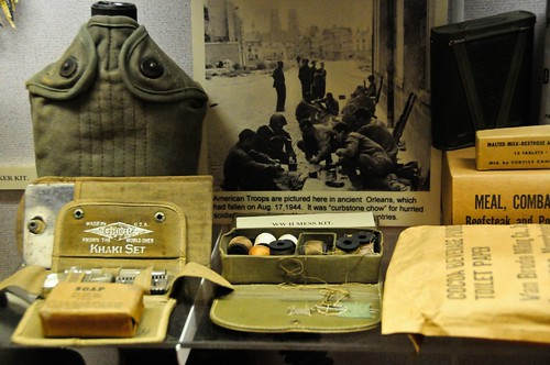 Military-issue kit including a standard canteen