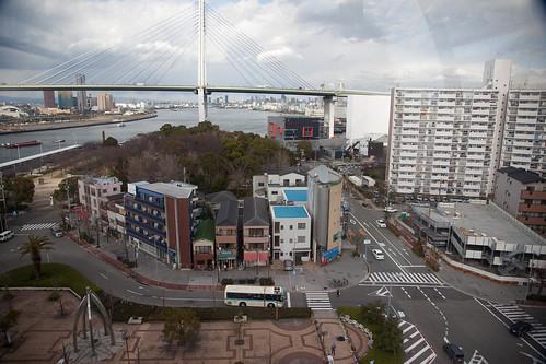 Ferris wheel view of Osaka