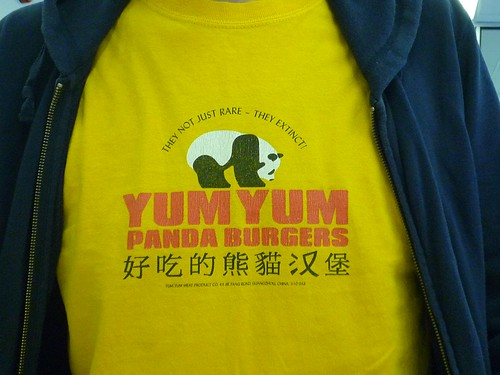 Panda burgers- now there's an idea!