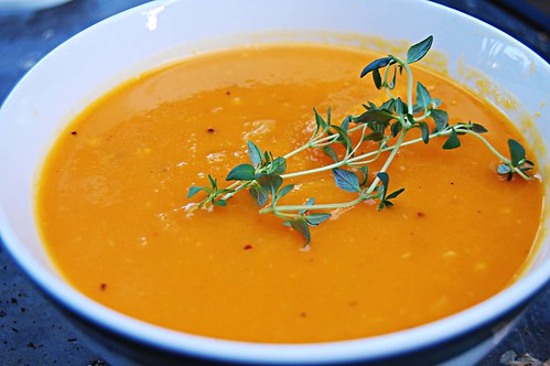 Butter Nut Squash Soup (very loosely adapted from Gourmet Feb 2009 ):