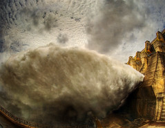 Vertedouro de Tucuru (Nilton Ramos Quoirin) Tags: brazil plant water gua brasil gate power dam fisheye pa barragem hidreltrica hdr par usina hydroelectric spillway olhodepeixe comporta tucuru vertedouro bemflickrbembrasil