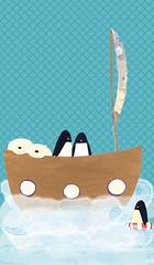 O barco (monica vaz) Tags: ilustraes