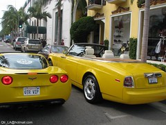 ..    (Qatari cool in USA) Tags: cars car drive los cool angeles rollsroyce rodeo phantom corvette doha qatar   qatari