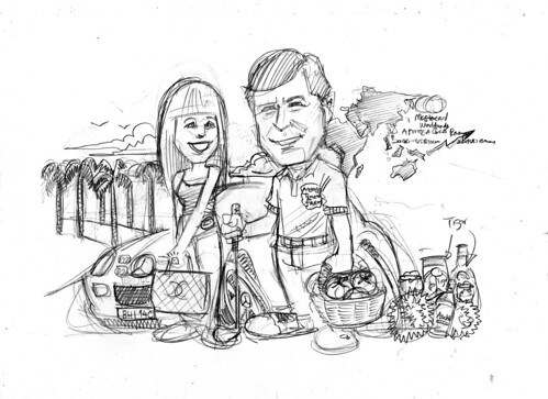 Couple caricatures for Mastercard Mr & Mrs Sekulic pencil sketch 3