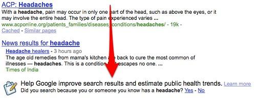 Google Headache Search