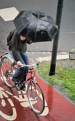 Umbrella on two wheels