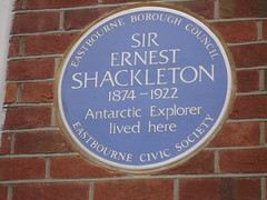 Photo of Ernest Henry Shackleton blue plaque