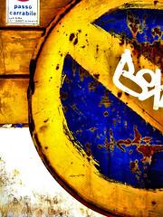 divieto (iosonog) Tags: strada giallo segnale divieto