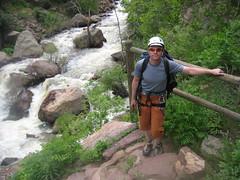 Jim Between Redgarden & West Ridge in Eldorado Canyon