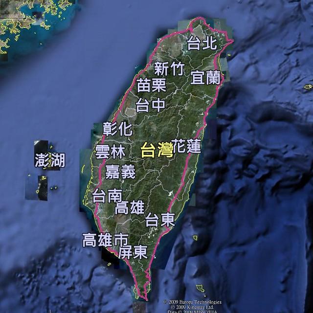 單車環島軌跡圖