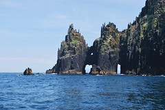 Cathedral Rocks of Inishnabro (olenka :)) Tags: ocean ireland seascape landscape island rocks view shoreline dingle cost kerry atlanticocean munster dinglepeninsula cathedralrocks blasketislands nikond60 inishnabro
