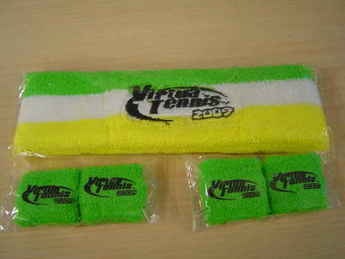 Virtua Tennis headband and finger bands