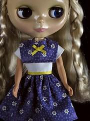 Purple Yoked Dress