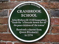 Photo of Cranbrook School green plaque