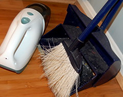 no more Dustbuster or dustpan! :)