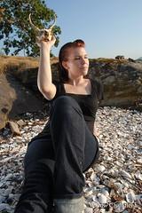 newcastle (Willow Friday) Tags: ocean sunset grass ferry jellyfish nanaimo doe deer brianna newcastleisland swimmingintheocean deerskull willowchandler ditchgirls
