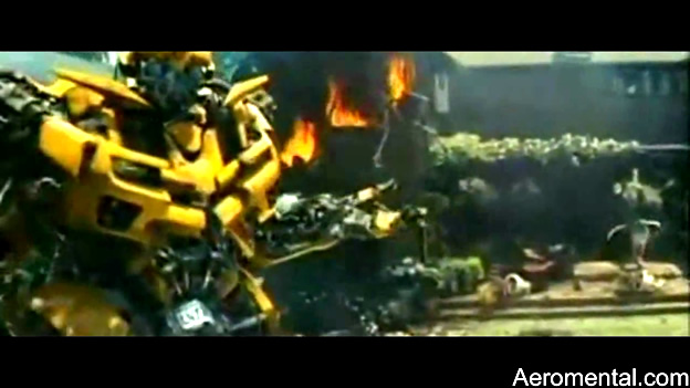 Tv Spot Transformers 2 Bumblebee casa
