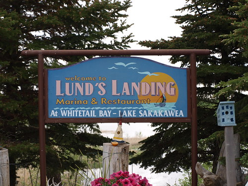 Lunds Landing Sign
