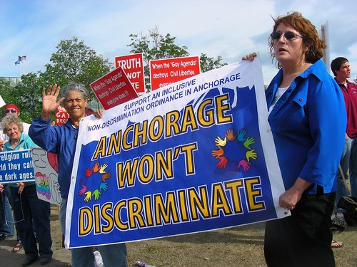 Anchorage wont discriminate (June 17 along 36th Avenue)