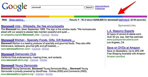Rainbow Divider On Google Search