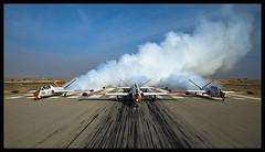 OFFICIAL - IAF Aerobatic Team Takeoff! (NGPhoto.biz) Tags: show israel official force aviation military smoke air flight airshow ng academy  takeoff runway israeli  iaf ngp    nehemia   gershuni       idfaf ngphoto  ngphotography   iafdf
