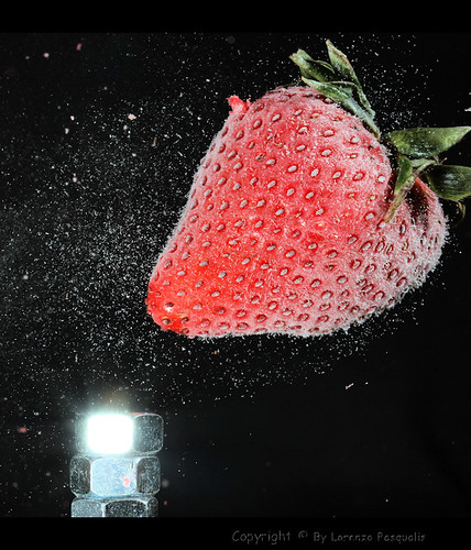 Shooting Frozen Strawberries