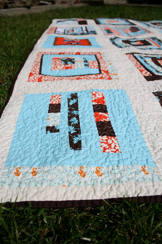 Block Party Quilt - Detail
