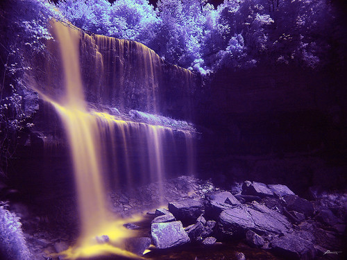 golden waterfall