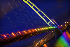 Infinity Illumination 7 (Paul_Murray_TS1) Tags: bridge night lights infinity cleveland illumination stockton tees canon1755mmf28isusm canon50d