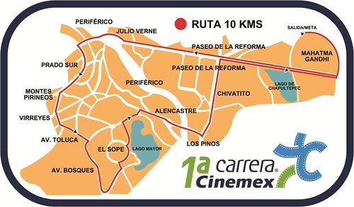 Ruta carrera Cinemex 10K