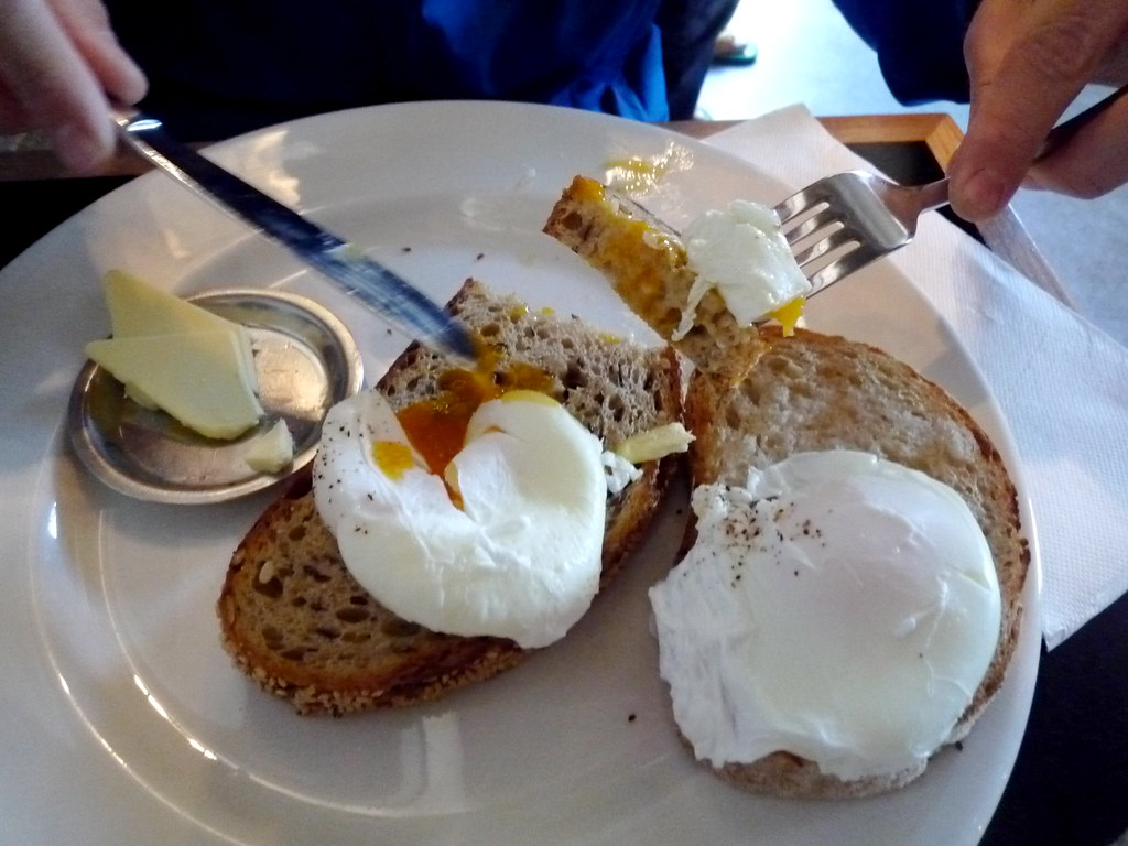 J's poached eggs