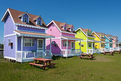 Hatteras Cottages (Sky Noir) Tags: ocean vacation sky usa beach photography coast town us colorful noir day unitedstates unitedstatesofamerica north atlantic clear hatteras coastal national nagshead tiny carolina cape unusual outer seashore hdr banks obx cottages rodanthe skynoir bybilldickinsonskynoircom hartteras
