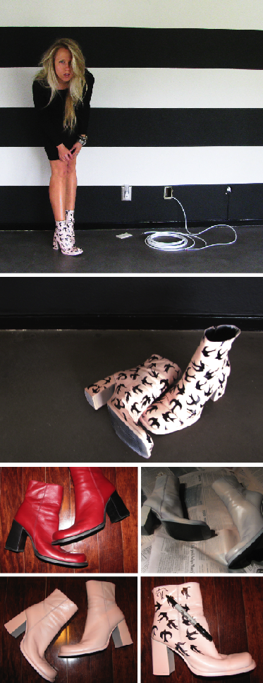 Miu Miu Prada Summer 2010 Platform Swallow shoes DIY by Kristin BleachBlack