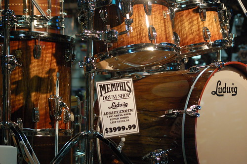 Ludwig kit at Memphis Drum Shop