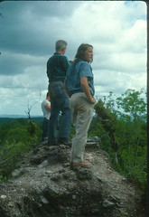 Tikal, Guatemala Denny's father, Dennis Puleston and his sister, Sally Puleston on top of Temple V 1965 (Dennis E. Puleston) Tags: life plaza trees people history archaeology sanantonio ancient university village maya pennsylvania guatemala belize great structures parties jungle tikal temples vegetation historical 1960s ramons dennis slides mapping tombs sixties palaces centralamerica universityofpennsylvania excavation peten riohondo puleston brosimumalicastrum dennisepuleston tikalproject chultuns