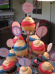 First Birthday Party - cupcake toppers