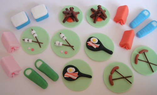 Camping Cupcake Toppers