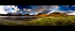 Black & Gold (Kieran Campbell) Tags: winter panorama snow skye landscape scotland highlands stac an exhibition na loch nan bla glas each cro hebrides cuillin mhor dearg sgurr blaven beinn bheinn slapin garbhbheinn belig bheag