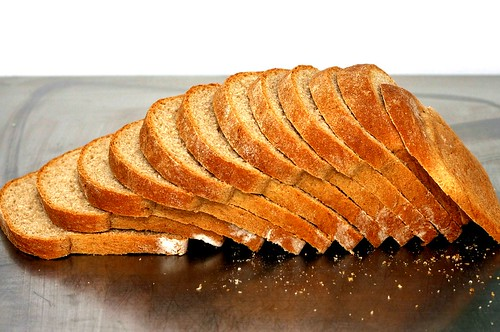 light wheat bread, thinly sliced