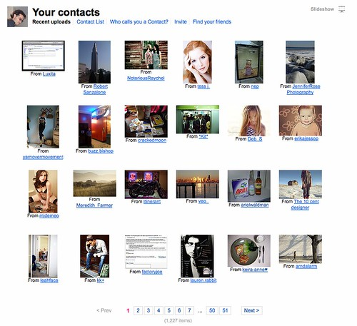 Social Graphing in Flickr